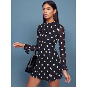 NEW Reformation Fox Dot Polka Dot Dress Mini